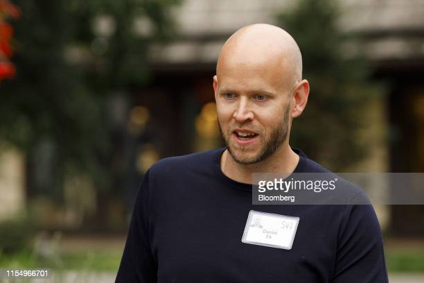 Daniel Ek, co-founder and chief executive officer of Spotify Technology SA, arrives for the morning session of the Allen & Co. Media and Technology...