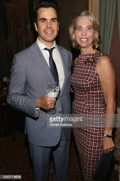 Daniel Entwistle and Martha Glass attend David Patrick Columbia And Chris Meigher Toast The QUEST 400 At DOUBLES on September 27 2018 in New York City