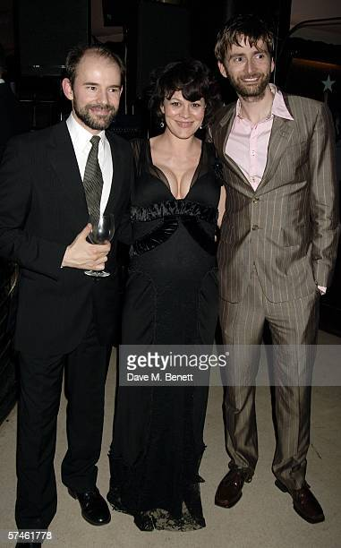 Daniel Evan actors Helen McCrory and David Tennant attend the Royal Court Theatre's 50th anniversary party at Titanic on April 26 2006 in London...