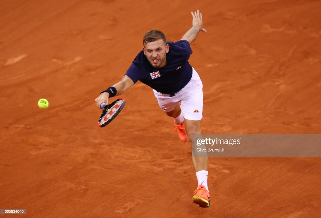 France v Great Britain - Davis Cup World Group Quarter-Final: Day One : News Photo