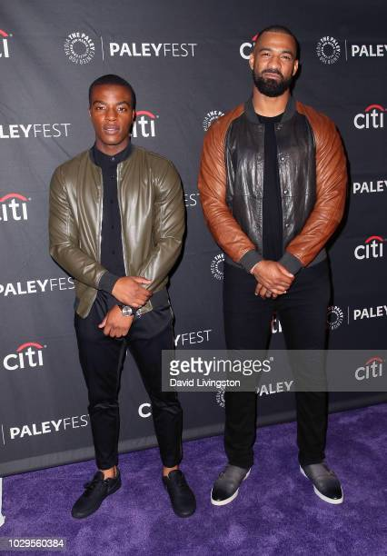Daniel Ezra and Spencer Paysinger from All American attend The Paley Center for Media's 2018 PaleyFest Fall TV Previews The CW at The Paley Center...