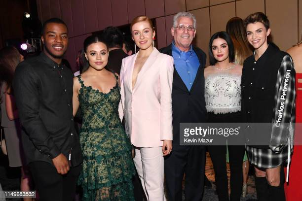 Daniel Ezra Sarah Jeffery Kennedy McMann President of The CW Television Network Mark Pedowitz Lucy Hale Ruby Rose attend the The CW Network 2019...