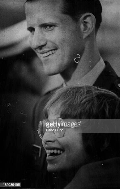 Daniel F Maslowski Shares A Happy Moment He is with his fiancee Mary Jean Muraski at Buckely field Vietnam * US Troops * Prisoners Of War