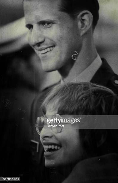 Daniel F Maslowski Shares A Happy Moment He is with his fiancee Mary Jean Muraski at Buckley field Credit Denver Post Inc