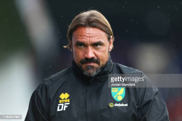 Daniel Farke, manager of Norwich during the Pre-Season Friendly match between Luton Town and Norwich City at Kenilworth Road on July 27, 2019 in...