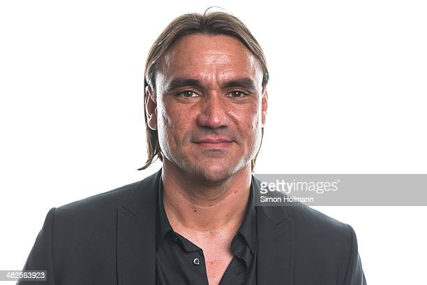 Daniel Farke poses during the Coaching And Technical Development Course Awards Ceremony at Kameha Grand Hotel on April 3 2014 in Bonn Germany
