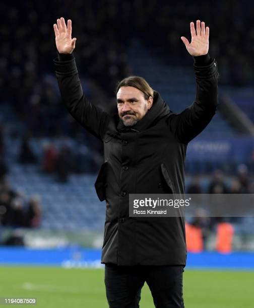 Daniel Farke the manager of Norwich after the Premier League match between Leicester City and Norwich City at The King Power Stadium on December 14,...