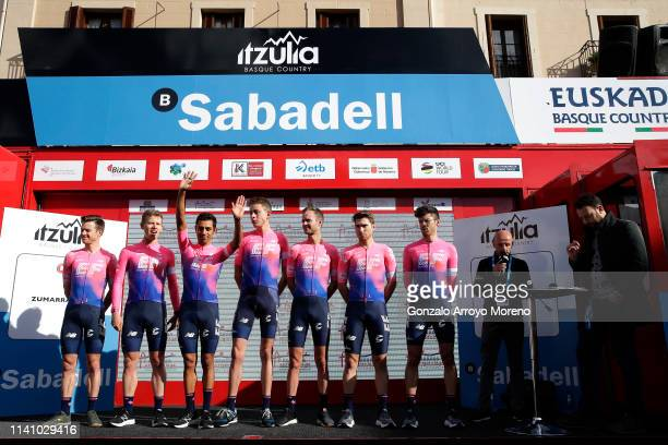 Daniel Felipe Martinez Poveda of Colombia and Team EF Education First / Sean Bennett of The United States and Team EF Education First / Hugh Carthy...