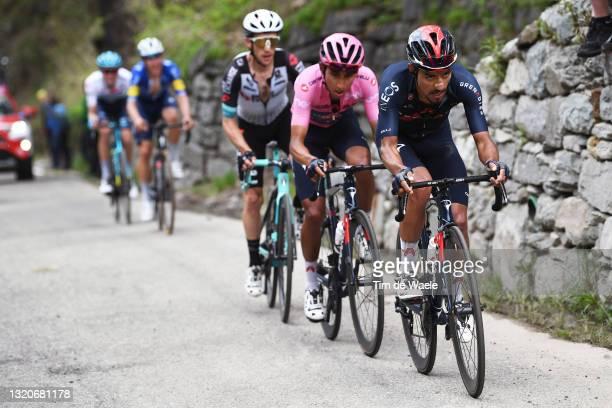 Daniel Felipe Martinez Poveda of Colombia and Team INEOS Grenadiers, Egan Arley Bernal Gomez of Colombia and Team INEOS Grenadiers Pink Leader Jersey...