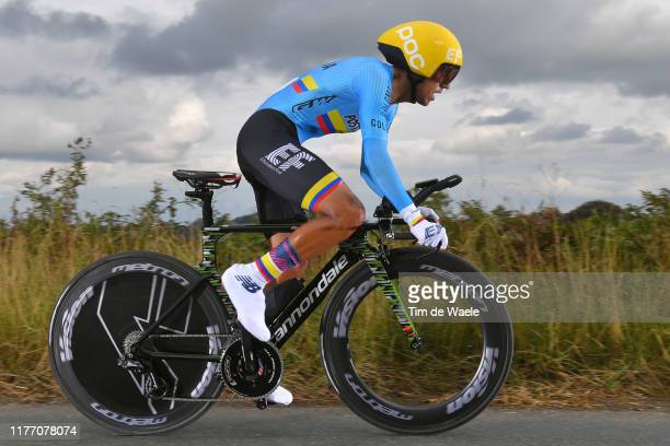 Daniel Felipe Martinez Poveda of Colombia / during the 92nd UCI Road World Championships 2019, Individual Time Trial Men Elite a 54km race from...