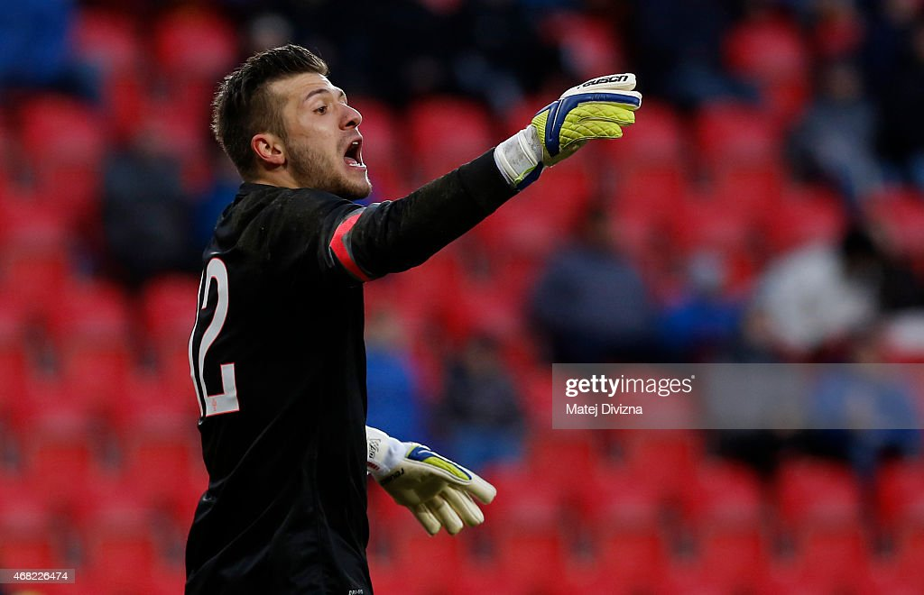Daniel Fernandes of Portugal in action during the international friendly match between U21 Czech Republic and U21 Portugal at Eden Stadium on March 31, 2015 in Prague, Czech Republic.