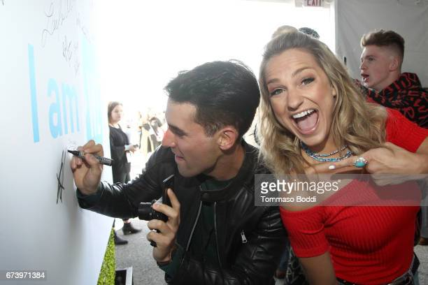 Daniel Fernandez and Chelsea Briggs attend WE Day California to celebrate young people changing the world at The Forum on April 27 2017 in Inglewood...
