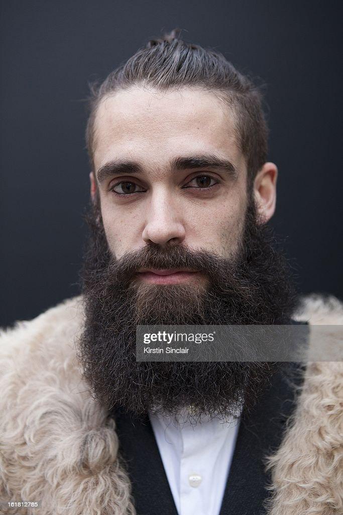 Daniel Fernanez architect, on day 2 of London Womens Fashion Week Autumn/Winter 2013 on February 16, 2013 in London, England.