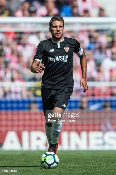 Daniel Filipe Martins Carrico of Sevilla FC during the La Liga 201718 match between Atletico de Madrid and Sevilla FC at the Wanda Metropolitano on...