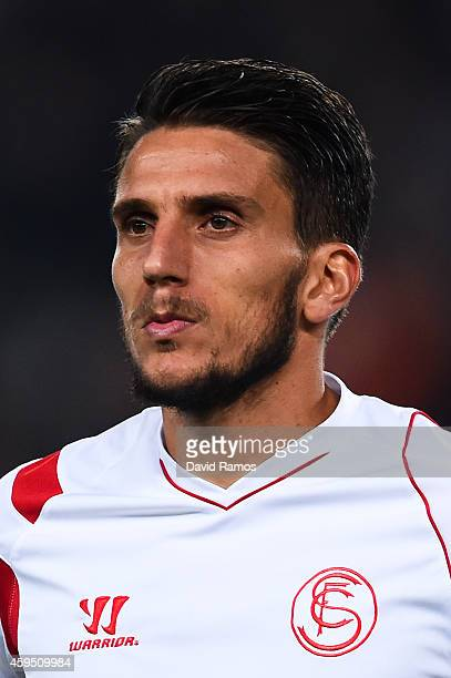 Daniel Filipe Martins Carrico of Sevilla FC during the La Liga mach between FC Barcelona and Sevilla FC at Camp Nou on November 22 2014 in Barcelona...