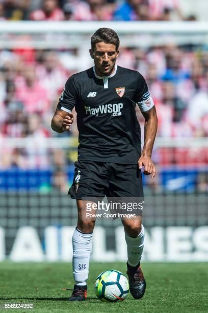 Daniel Filipe Martins Carrico of Sevilla FC in action during the La Liga 201718 match between Atletico de Madrid and Sevilla FC at the Wanda...