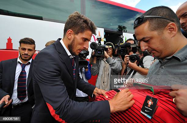 Daniel Filipe Martins Carrico of Seville arrives at the Sandro Pertene Turin airport prior to the UEFA Europa League final on May 13 2014 in Turin...