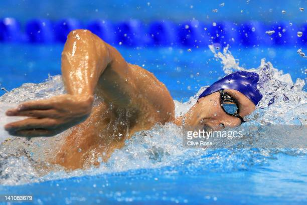 Daniel Fogg of Loughborough University S WPC competes in the Men's 1500m Freestyle Final during day eight of the British Gas Swimming Championships...