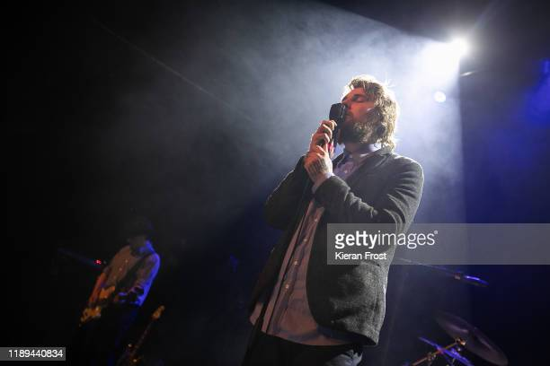 Daniel Fox and Dara Kiely of Girl Band perform live at Vicar Street on November 22 2019 in Dublin Ireland