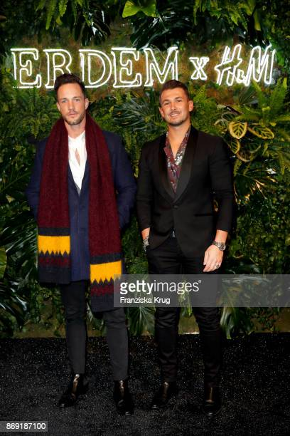 Daniel Fox and Sandro Rasa wearing ERDEM X HM attend the ERDEM x HM PreShopping Event on November 1 2017 in Berlin Germany