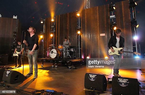 Daniel Fox Dara Kiely Adam Faulkner and Alan Duggan of Girl Band perform at Day 2 of Best Kept Secret at Beekse Bergen on June 21 2014 in...
