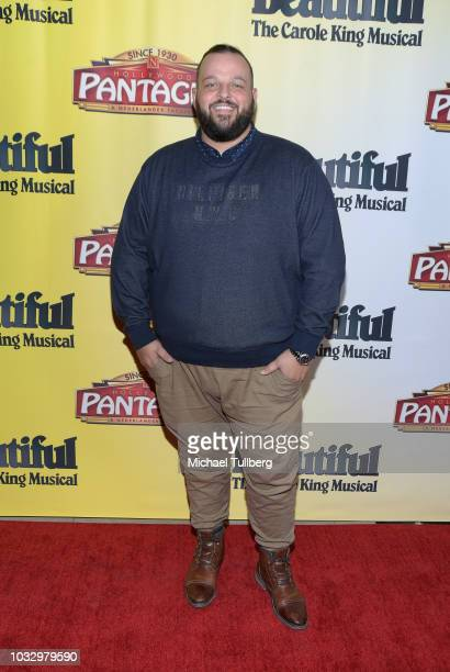 Daniel Franzese attends the Los Angeles engagement of 'Beautiful The Carole King Music' at the Pantages Theatre on September 13 2018 in Hollywood...
