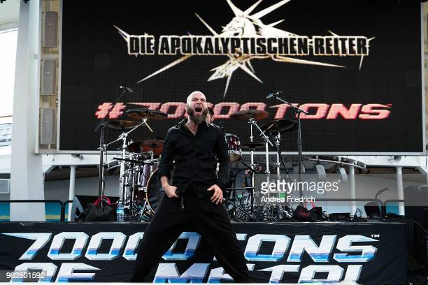 Daniel 'Fuchs' Täumel of Die Apokalyptischen Reiter performs onboard the cruise liner 'Independence of the Seas' during the '70000 Tons of Metal'...