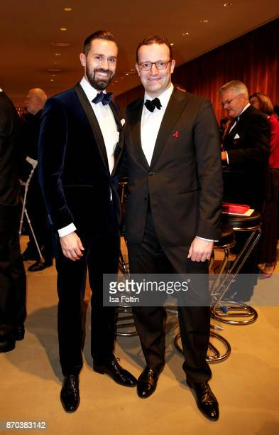 Daniel Funke and his partner German politician Jens Spahn during the 24th Opera Gala at Deutsche Oper Berlin on November 4 2017 in Berlin Germany