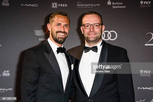 Daniel Funke and Jens Spahn attend the 21st Aids Gala at Deutsche Oper Berlin on January 10 2015 in Berlin Germany