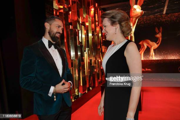 Daniel Funke and Queen Mathilde of Belgium during the MercedesBenz AG at BAMBI 2019 at Festspielhaus BadenBaden on November 21 2019 in BadenBaden...