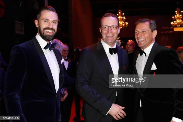 Daniel Funke Jens Spahn and Michael Mronz during the aftershow party during the 24th Opera Gala at Deutsche Oper Berlin on November 4 2017 in Berlin...