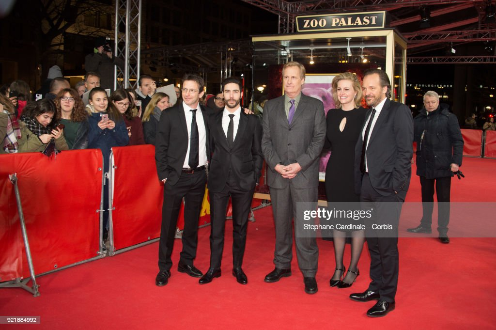 Daniel Futterman; Tahar Rahim, Jeff Daniels, guest and Peter Sarsgaard attend the 'The Looming Tower' premiere during the 68th Berlinale International Film Festival Berlin at Zoo Palast on February 20, 2018 in Berlin, Germany.