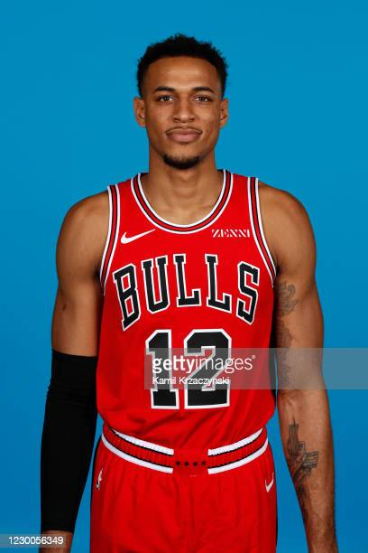 Daniel Gafford of the Chicago Bulls poses for a head shot during NBA Content Day on December 10, 2020 at the United Center in Chicago, Illinois. NOTE...