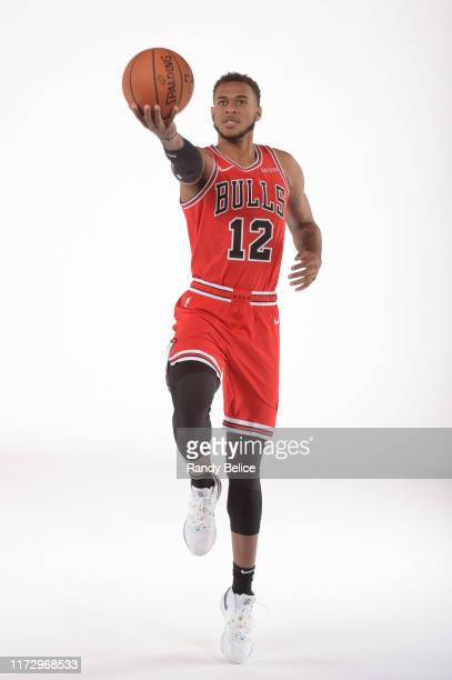 Daniel Gafford of the Chicago Bulls poses for a portrait during 2019 NBA Media Day on September 30, 2019 at the Advocate Center in Chicago, Illinois....