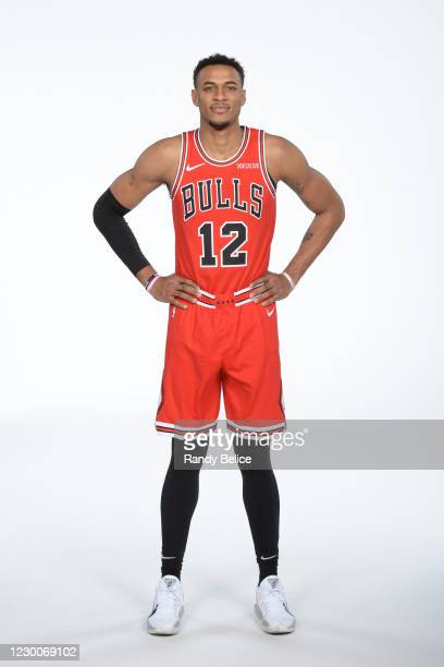 Daniel Gafford of the Chicago Bulls poses for a portrait on Content Day at the United Center on December 10, 2020 in Chicago, Illinois. NOTE TO USER:...