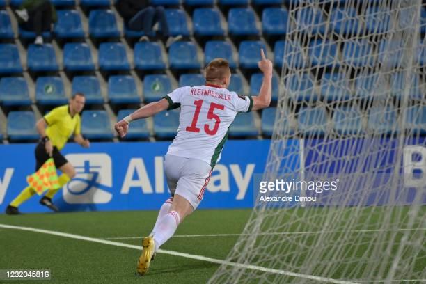 Daniel GAZDAG of Hungary celebrates his scoring during the World Cup Qualifying 2022 match between Andorra and Hungary at Estadi Nacional on March...