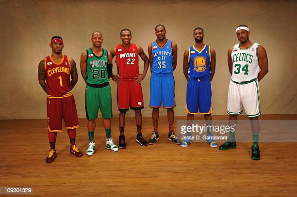 Daniel Gibson of the Cleveland Cavaliers Ray Allen of the Boston Celtics James Jones of the Miami Heat Kevin Durant of the Oklahoma City Thunder...