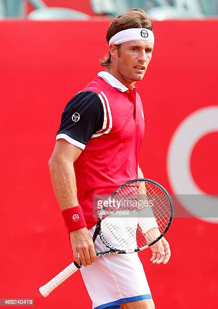 Daniel Gimeno Traver of Spain looks on during a tennis match between Nicolas Almagro and Daniel Gimeno Traver as part of ATP Buenos Aires Copa Claro...