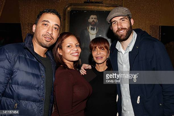 Daniel Glogower Quinn Rhone Sylvia Rhone and Dan Solomito attend Sylvia Rhone's surprise birthday party at Goldbar on March 11 2012 in New York City