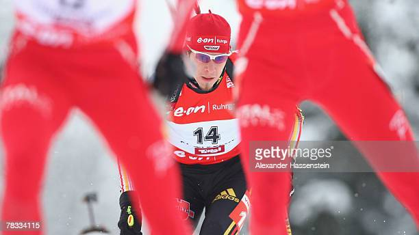 Daniel Graf of Germany competes in the men's 125 km Pursuit event of the IBU Biathlon World Cup on December 8 2007 in Hochfilzen Austria