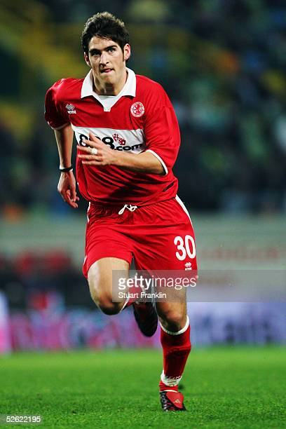 Daniel Graham of Middlesbrough in action during the UEFA Cup Match between Sporting Club Lisbon and Middlesbrough at The Jose Alvalade Stadium on...