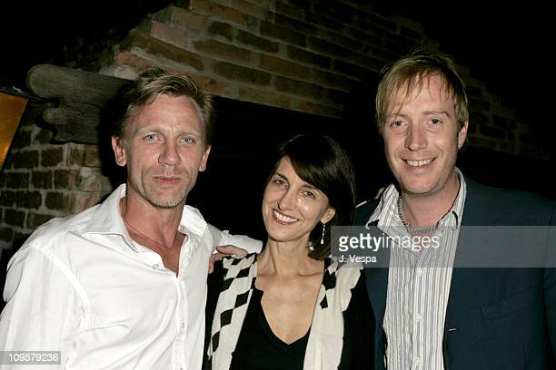 """Daniel Graig, Ruth Vitale and Rhys Ifans during 2004 Venice Film Festival - """"Enduring Love"""" - Party in Venice Lido, Italy."""
