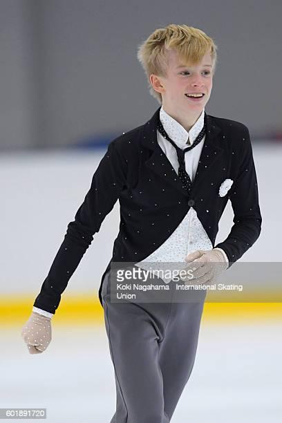 Daniel Grassl of Italy competes in the men's/women's short/free program during the ISU Junior Grand Prix of Figure Skating Yokohama on September 10...
