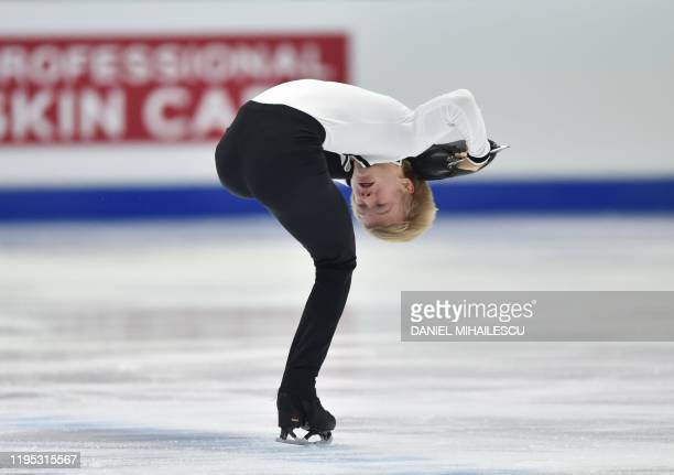Daniel Grassl of Italy performs in the men's short programme event of the ISU European Figure Skating Championships at the Steiermark hall in Graz...