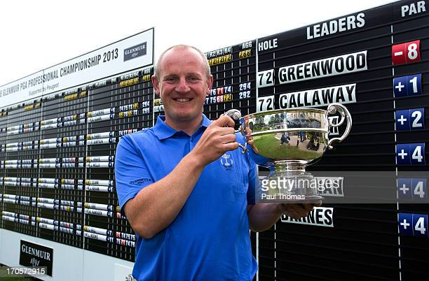 Daniel Greenwood of Forest Pines Golf Club poses for a photograph with the trophy after the final round of the Glenmuir PGA Professional Championship...