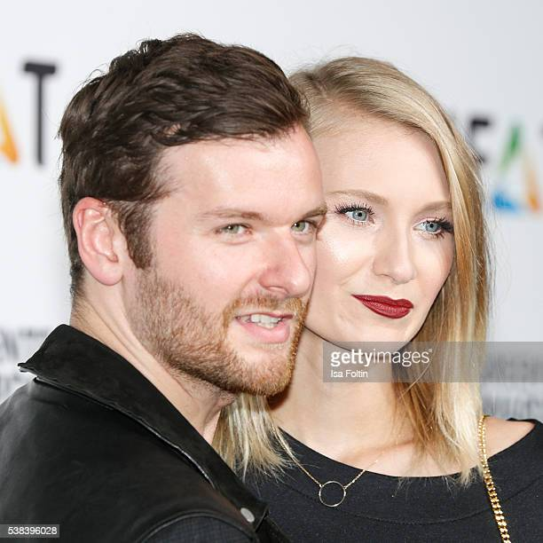 Daniel Grunenberg and Carolin Niemczyk of the band Glasperlenspiel attend the Green Tec Award at ICM Munich on May 29 2016 in Munich Germany