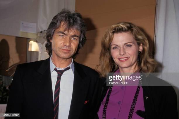 Daniel Guichard et Jeane Manson lors de sa générale à l'Olympia le 3 avril 1991 Paris France