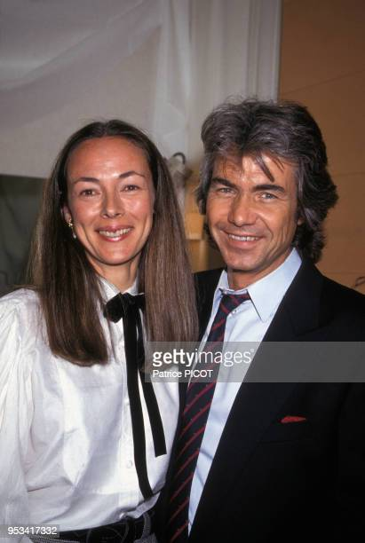 Daniel Guichard et sa femme lors de sa générale à l'Olympia le 3 avril 1991 Paris France