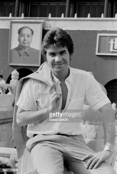 Daniel Guichard visite la Cité Interdite à Pékin le 8 spetembre 1983 Chine