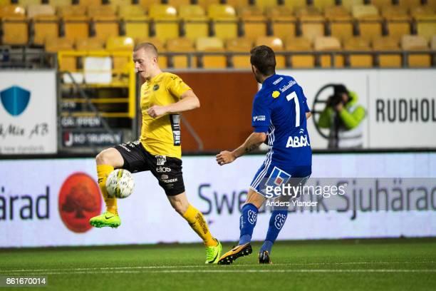 Daniel Gustavsson of IF Elfsborg controls the ball during the Allsvenskan match between IF Elfsborg and GIF Sundsvall at Boras Arena on October 15,...